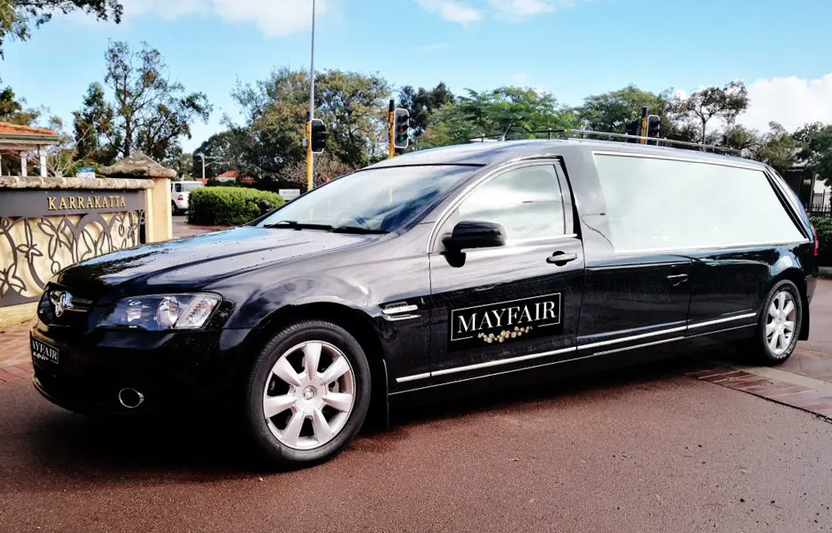 Black Hearse for a Cremation Funeral Service in Subiaco Nedlands Perth WA